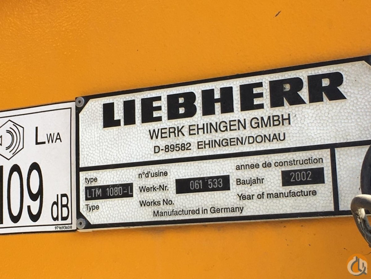 2002 Liebherr LTM1080-L1 All Terrain Crane for Sale on CraneNetwork.com