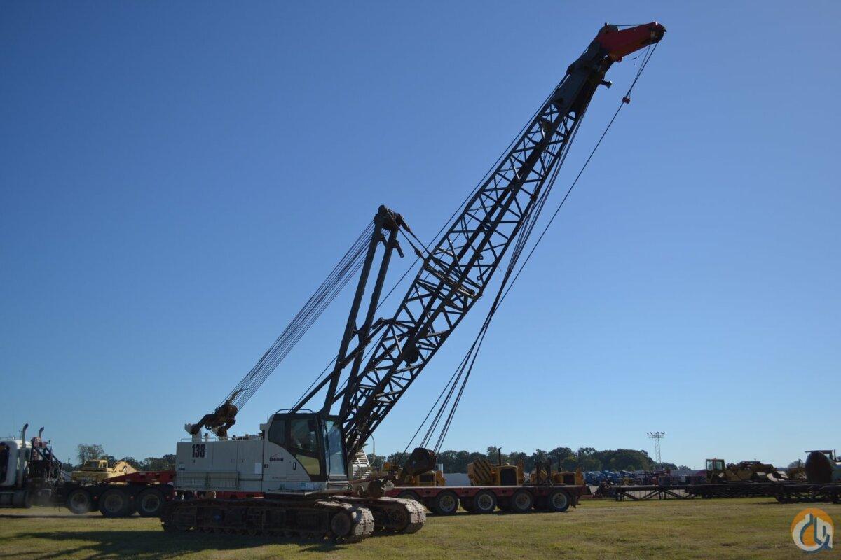 Link Belt Crawler Cranes : Sold link belt ls hsl ton cap crawler crane