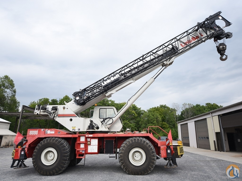 2008 Link-Belt RTC-8090  90 Ton Rough Terrain Crane. Crane for Sale in Baltimore Maryland on CraneNetwork.com