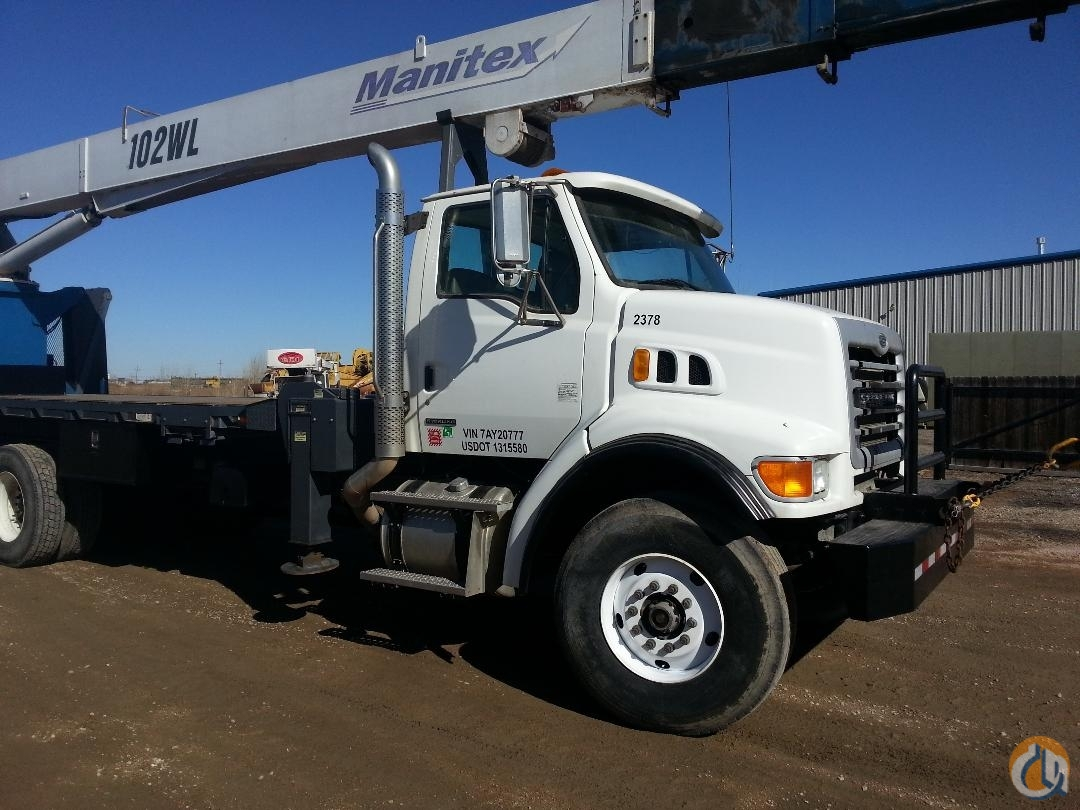 Sold 2007 MANITEX 30102WL REAR MOUNT BOOM TRUCK ON STERLING Crane for  in Brighton Colorado on CraneNetwork.com