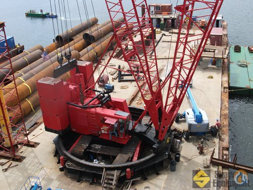 1990 Manitowoc 4100 SI Crane for Sale in Quincy Massachusetts on CraneNetworkcom