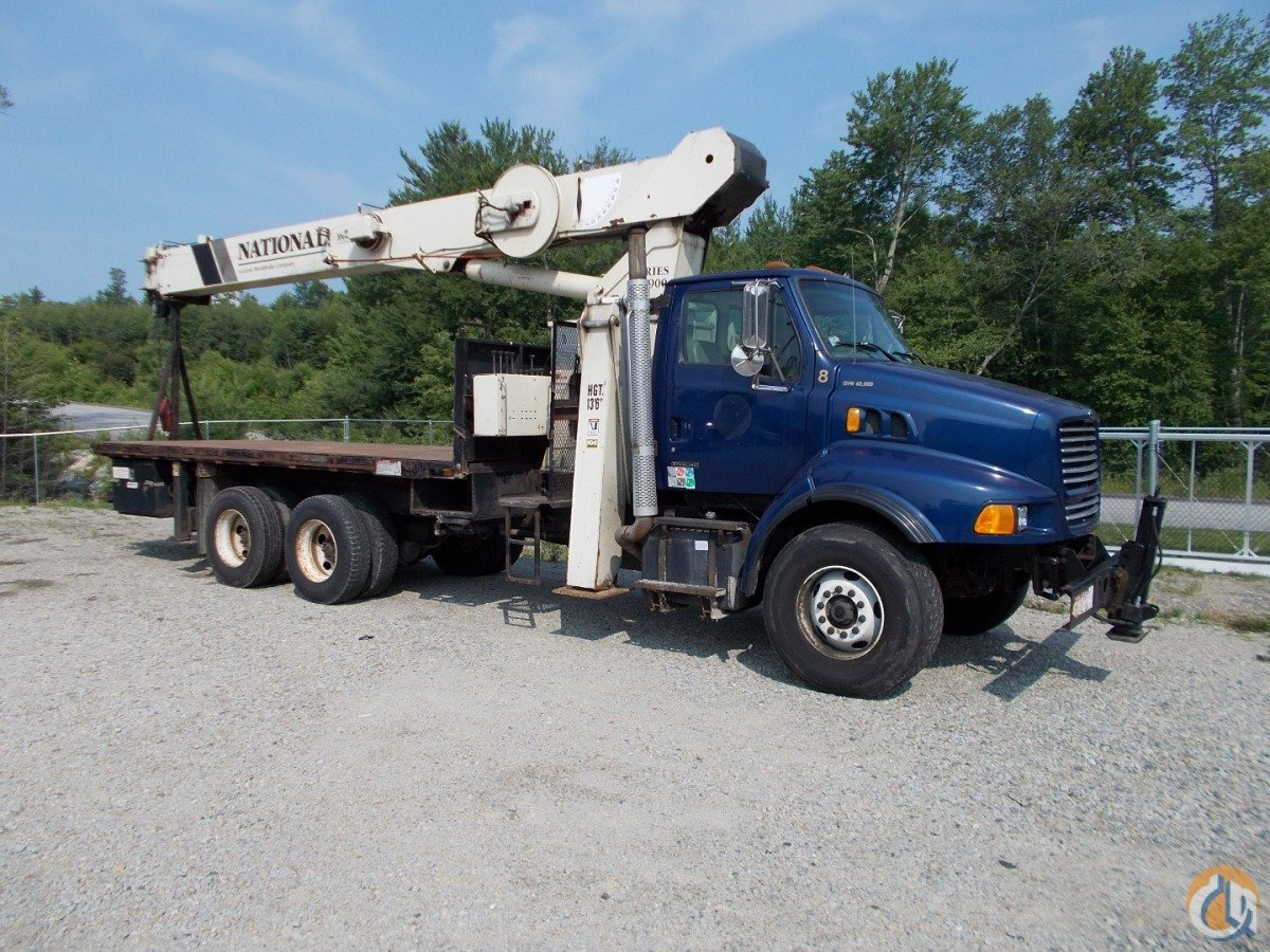 National 990C Boom Truck Cranes Crane for Sale 1999 National 990C on Sterling LT9513 in Oxford  Massachusetts  United States 184575 CraneNetwork