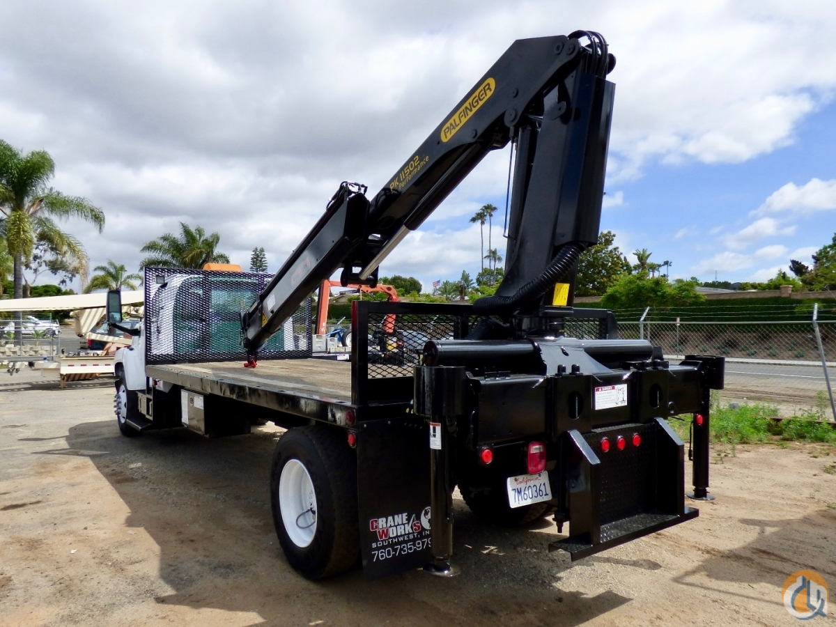 Sold Palfinger PK 11502 B mounted to 2004 GMC C6500 truck Crane for  in San Marcos California on CraneNetwork.com