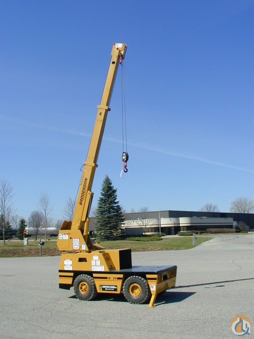 Broderson IC-20-1F Carry Deck Industrial Cranes Crane for Sale 2003 Broderson IC20-1F  Dual Fuel Excellent condition in Brighton  Michigan  United States 185887 CraneNetwork