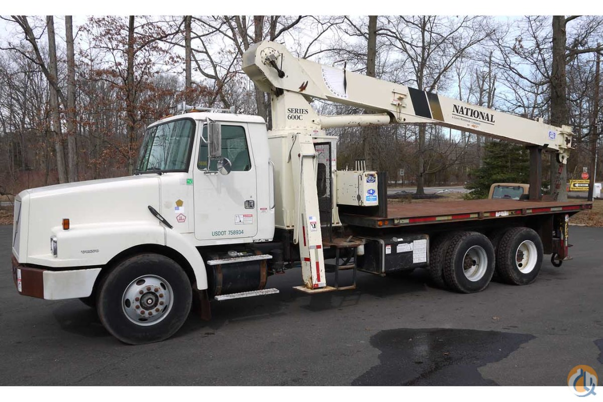 8606 - 1998 VOLVO WG64 NATIONAL CRANE 600C 17 TON BOOM TRUCK Crane for Sale in Hatfield Pennsylvania on CraneNetworkcom