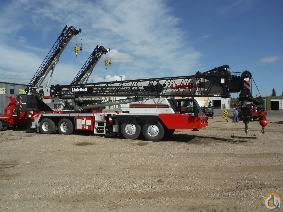 Sold 2006 Link-Belt HTC-8690 Hydraulic Truck Crane cw Nelson Tri-Axle Dolly Crane for  in Edmonton Alberta on CraneNetwork.com
