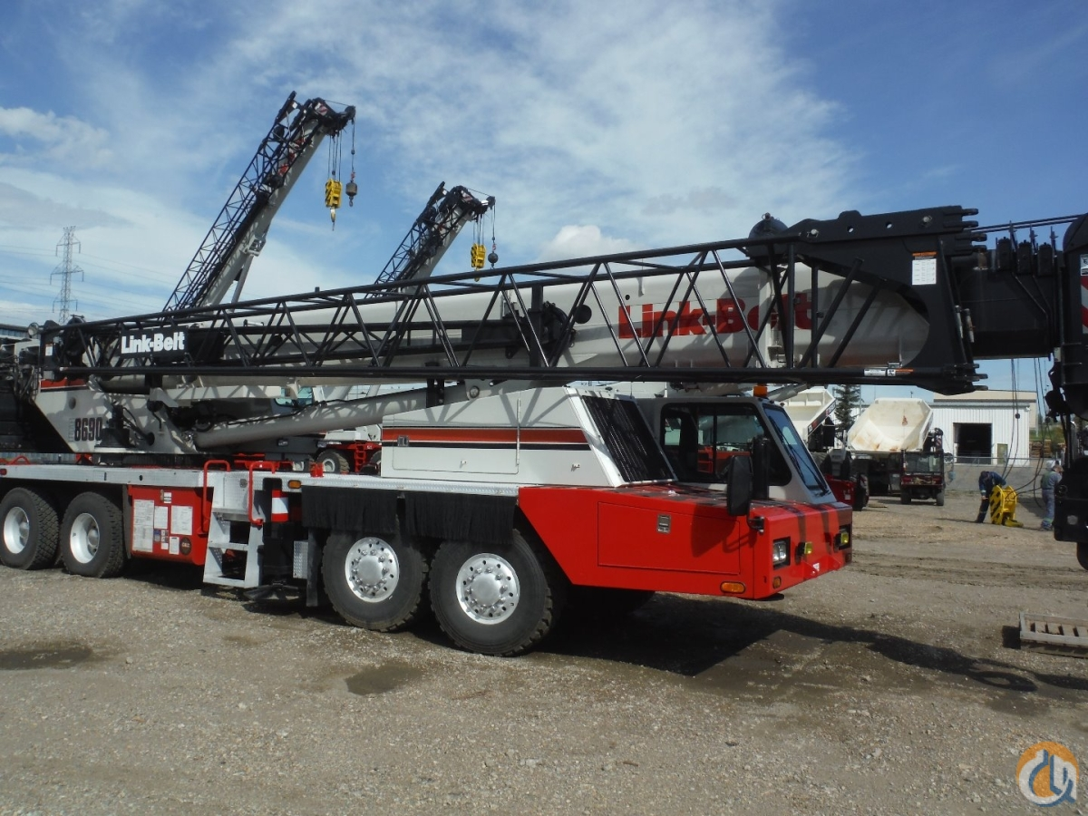 2006 Link-Belt HTC-8690 Hydraulic Truck Crane cw Nelson Tri-Axle Dolly Crane for Sale in Edmonton Alberta on CraneNetwork.com