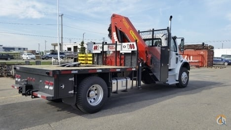 Sold Work-Ready Oilfield Service Package New Palfinger PK23500 mounted to 2016 Freightliner M2106 chassis Crane for  in Calgary Alberta on CraneNetwork.com
