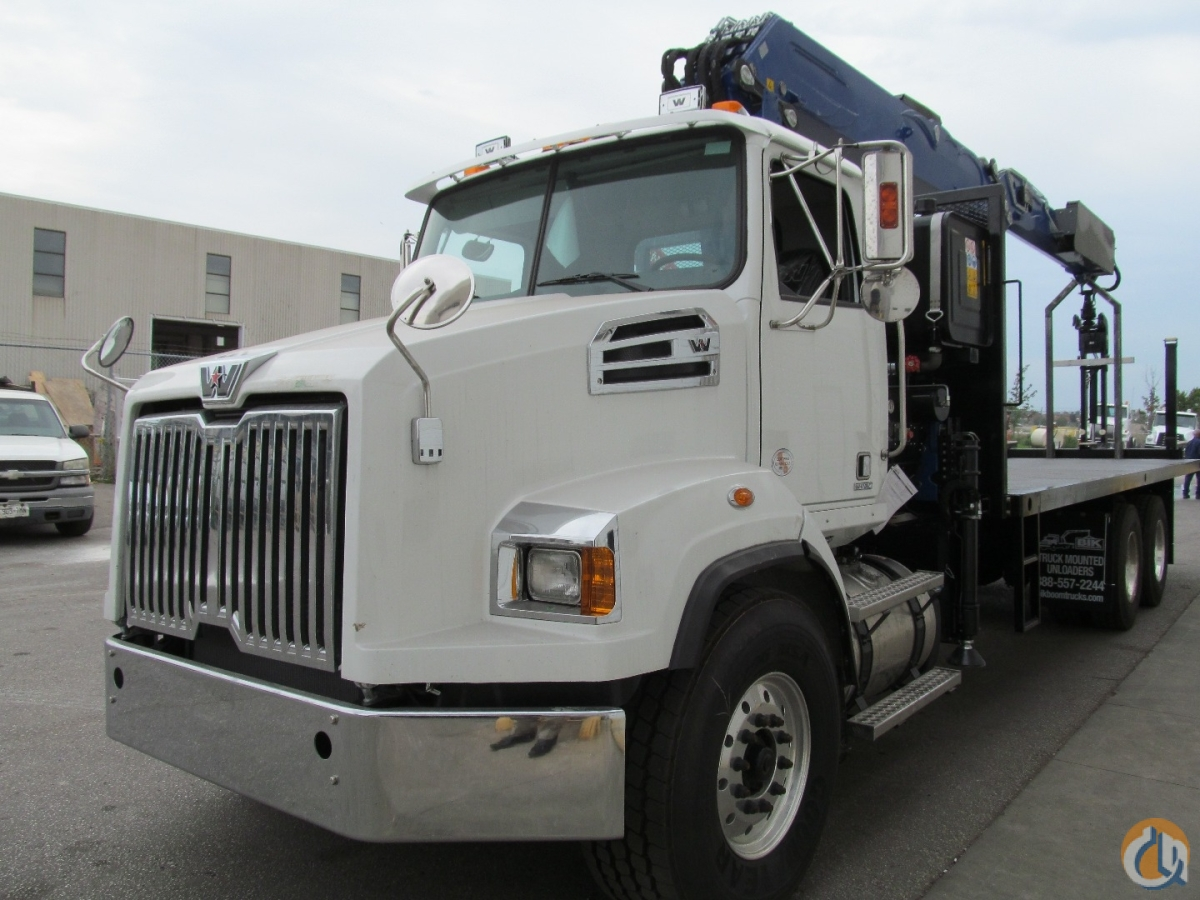 NEW POWERLIFT 74 WALLBOARD BOOM  74 VERTICAL REACH on NEW 2015 WESTERN STAR TA  24 4 STEEL DECK  470 HP  18 SPD STANDARD Crane for Sale in Toronto Ontario on CraneNetwork.com