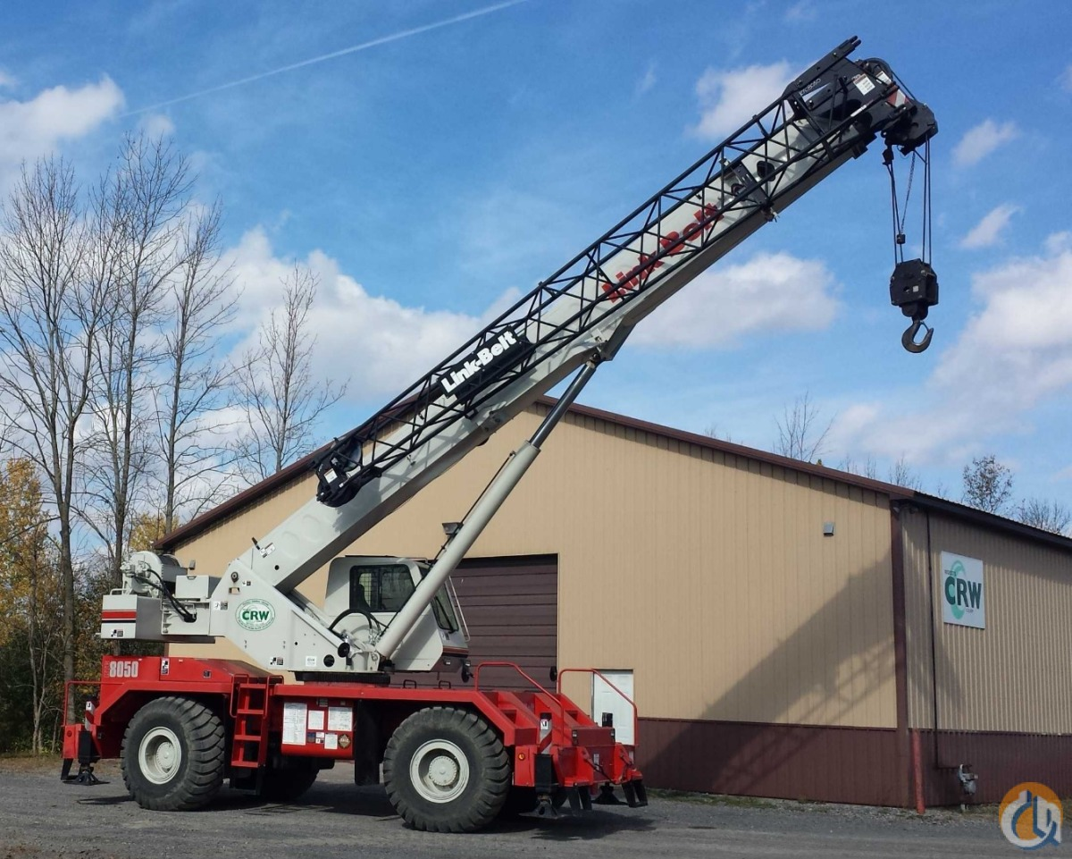 Link-Belt RTC-8050 SII Rough Terrain Cranes Crane for Sale 2011 Link-Belt RTC8050II in Williston  Vermont  United States 167724 CraneNetwork