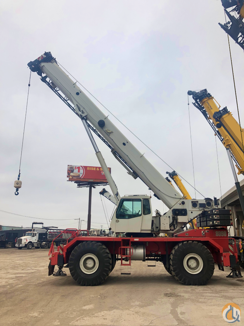 2008 Link-belt RTC8090 II 90 ton rough terrain crane Crane for Sale in Toledo Ohio on CraneNetwork.com