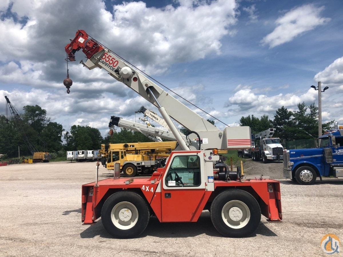 Sold 1999 Shuttlelift 5550RT 15 ton carry deck dual fuel 4x4 Crane for  in Solon Ohio on CraneNetwork.com