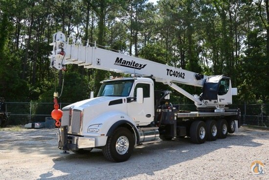 Manitex TC40142 mounted to 2020 Kenworth T880 chassis Crane for Sale in Houston Texas on CraneNetwork.com