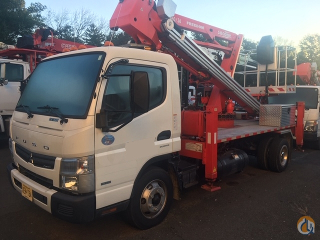 Used Socage Freedom 6036 aerial lift installed on 2016 Mitsubishi Fuso FE160 cabover chassis Crane for Sale in Hampton New Jersey on CraneNetwork.com