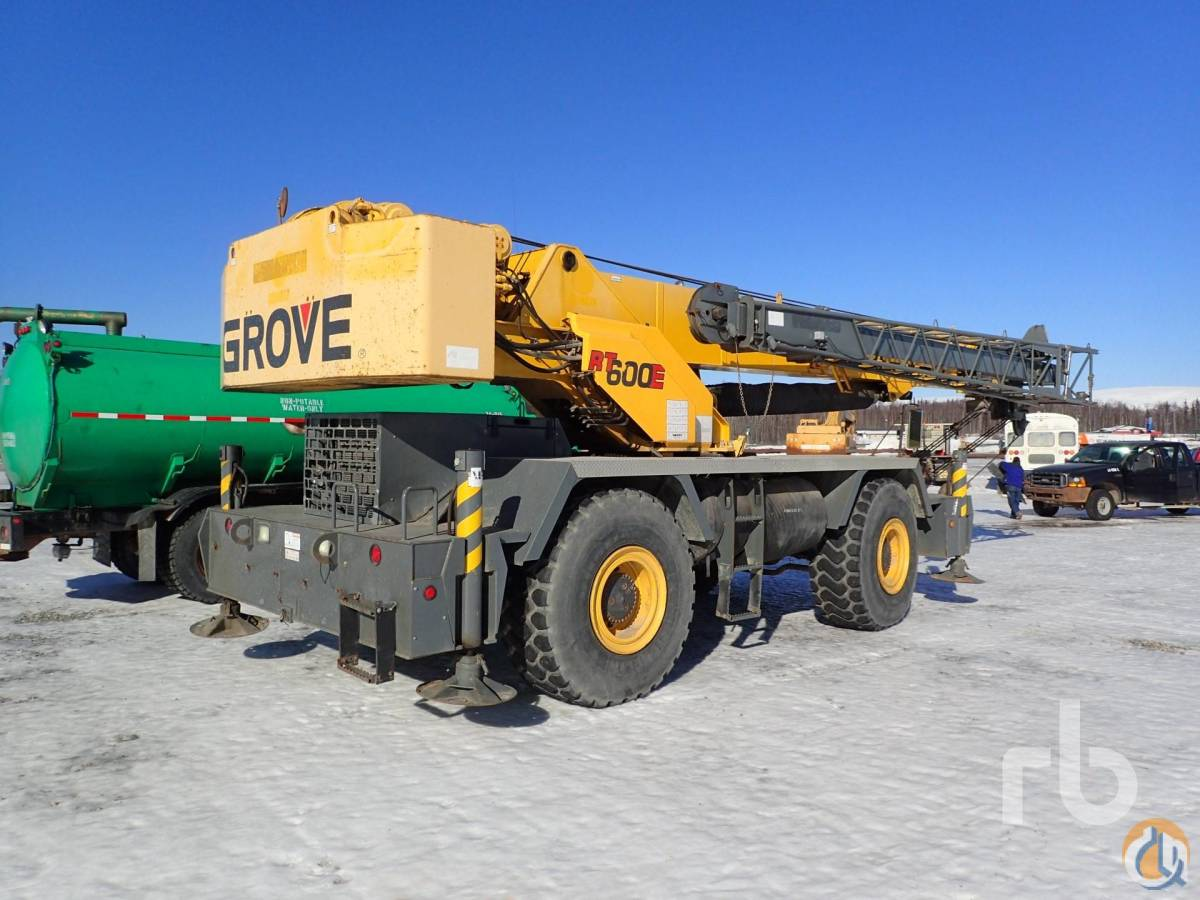 2003 GROVE RT600E 50 Ton Rough Terrain Crane Crane for Sale in Wasilla Alaska on CraneNetworkcom