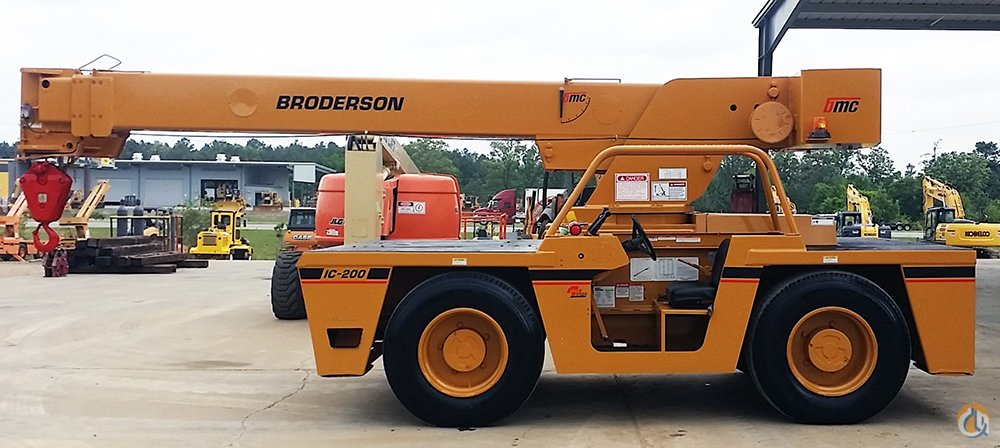 2000 IC200-2C 15TON BRODERSON DIESEL WITH NEW OSHA CERTIFICATION Crane for Sale on CraneNetwork.com