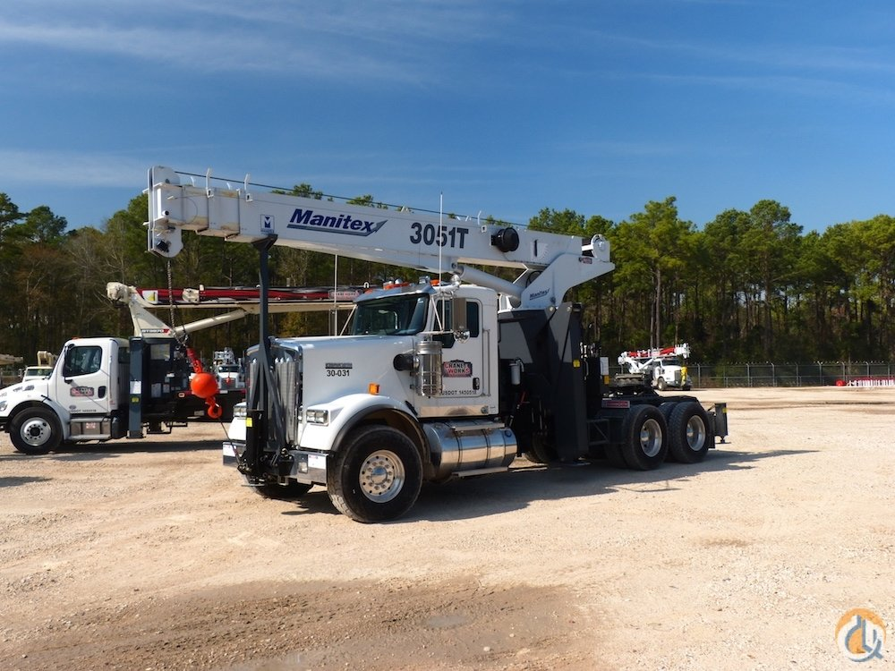 New Manitex 3051 T boom truck crane mounted to 2019 Kenworth T880 chassis Crane for Sale in Houston Texas on CraneNetwork.com