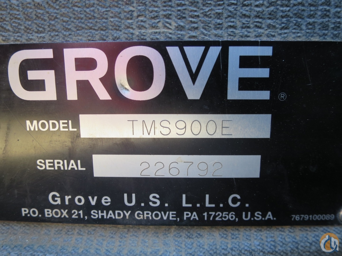 GROVE TMS-900E 142 FEET BOOM PLUS 56 JIB 2 WINCHES AC FLOAT KIT Crane for Sale in Baltimore Maryland on CraneNetwork.com