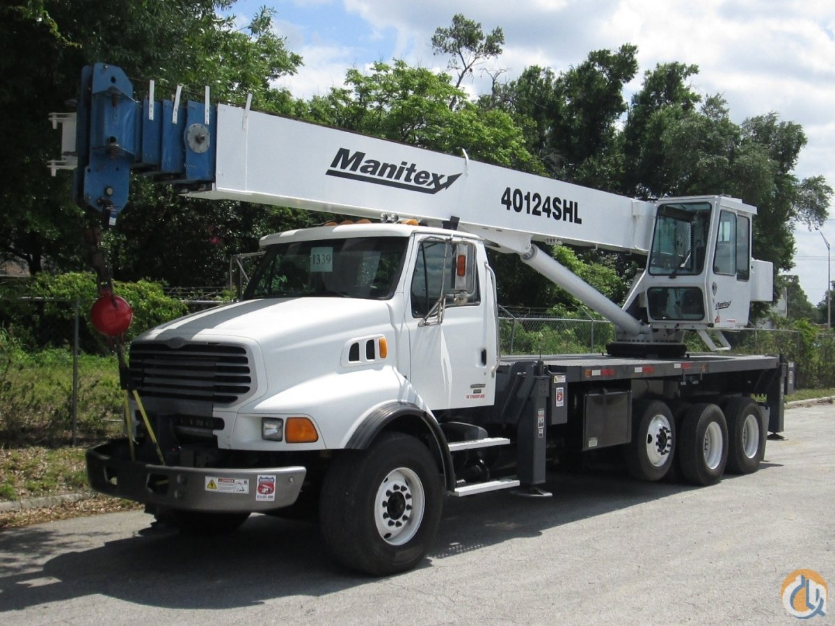 2007 Manitex 40124SHL on a 2007 Sterling LT9500 Crane for Sale in Tampa Florida on CraneNetwork.com