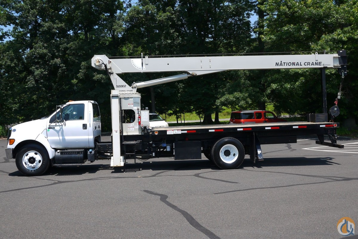 2011 FORD F750 W NATIONAL 500E2 18 TON BOOMCRANE TRUCK Crane for Sale in Hatfield Pennsylvania on CraneNetwork.com