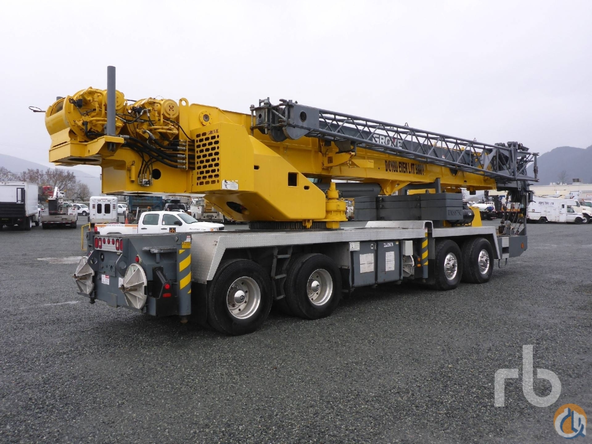 Sold 2002 GROVE TMS875C 75 Ton TA TA Hydraulic Truck Crane Crane for  in Chilliwack British Columbia on CraneNetworkcom