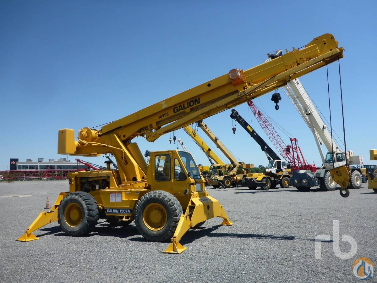 Sold 1998 GALION 150FA 15 Ton 4x4 Rough Terrain Crane Crane for  in Houston Texas on CraneNetworkcom