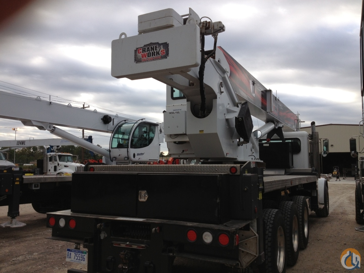 Manitex 5096S mounted to Peterbilt 367 tridem chassis Crane for Sale in Houston Texas on CraneNetwork.com