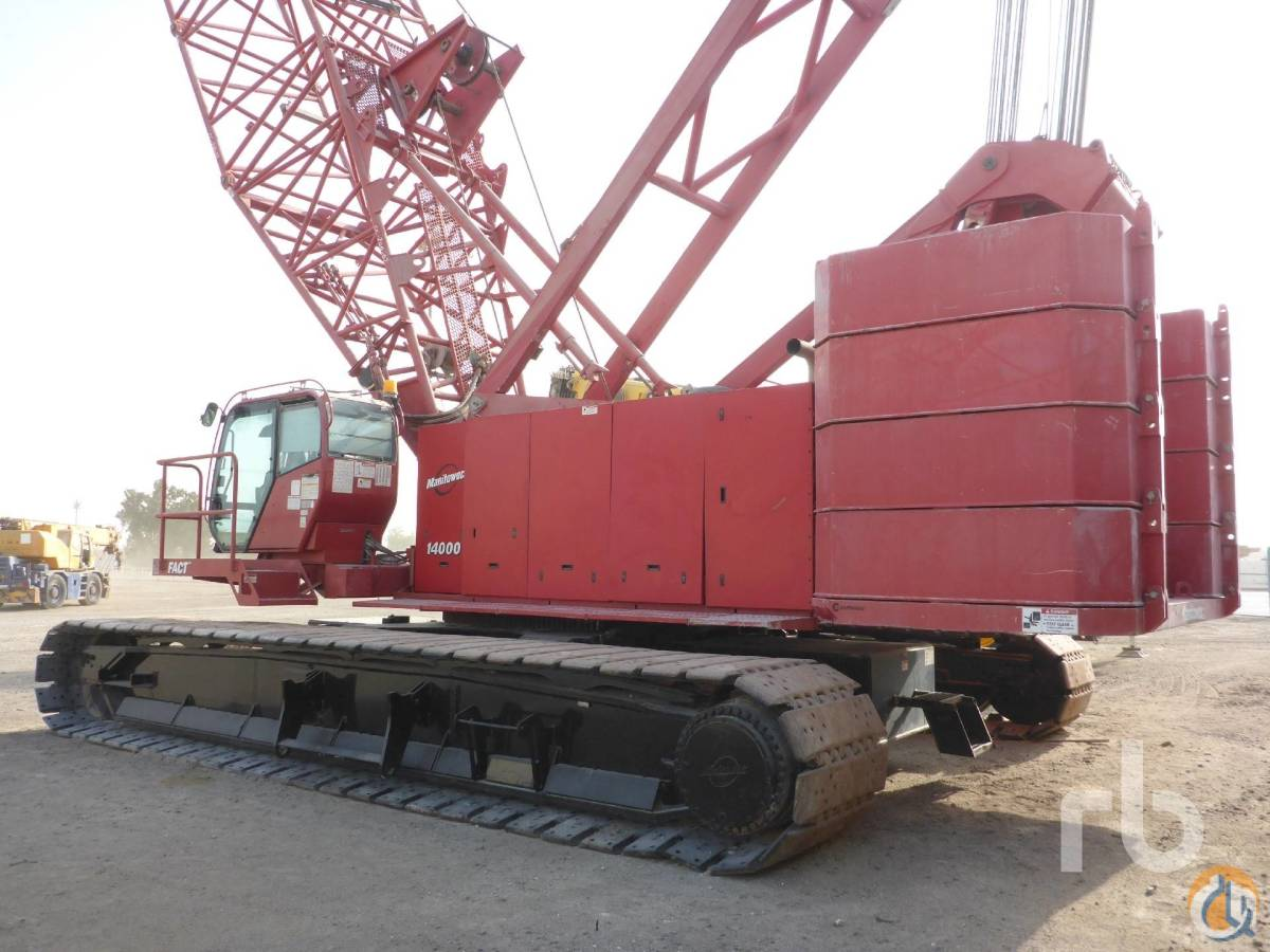 Sold 2008 MANITOWOC 14000 200 Ton Crawler Crane Crane for  in Dubai Dubai on CraneNetworkcom