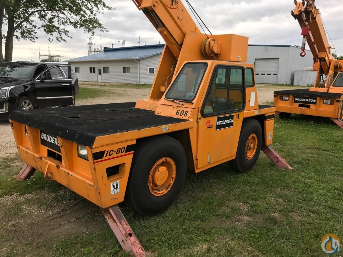 1998 BRODERSON IC80-2D Crane for Sale in Bridgeview Illinois on CraneNetwork.com