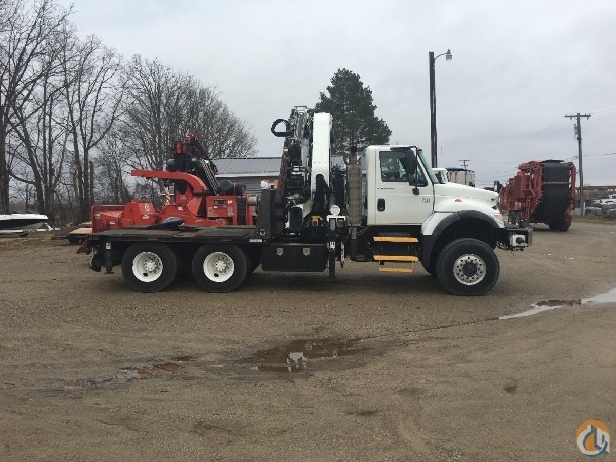 Sold 2006 International 7500 6x6 with Effer 370 6 3 Crane for  on CraneNetwork.com