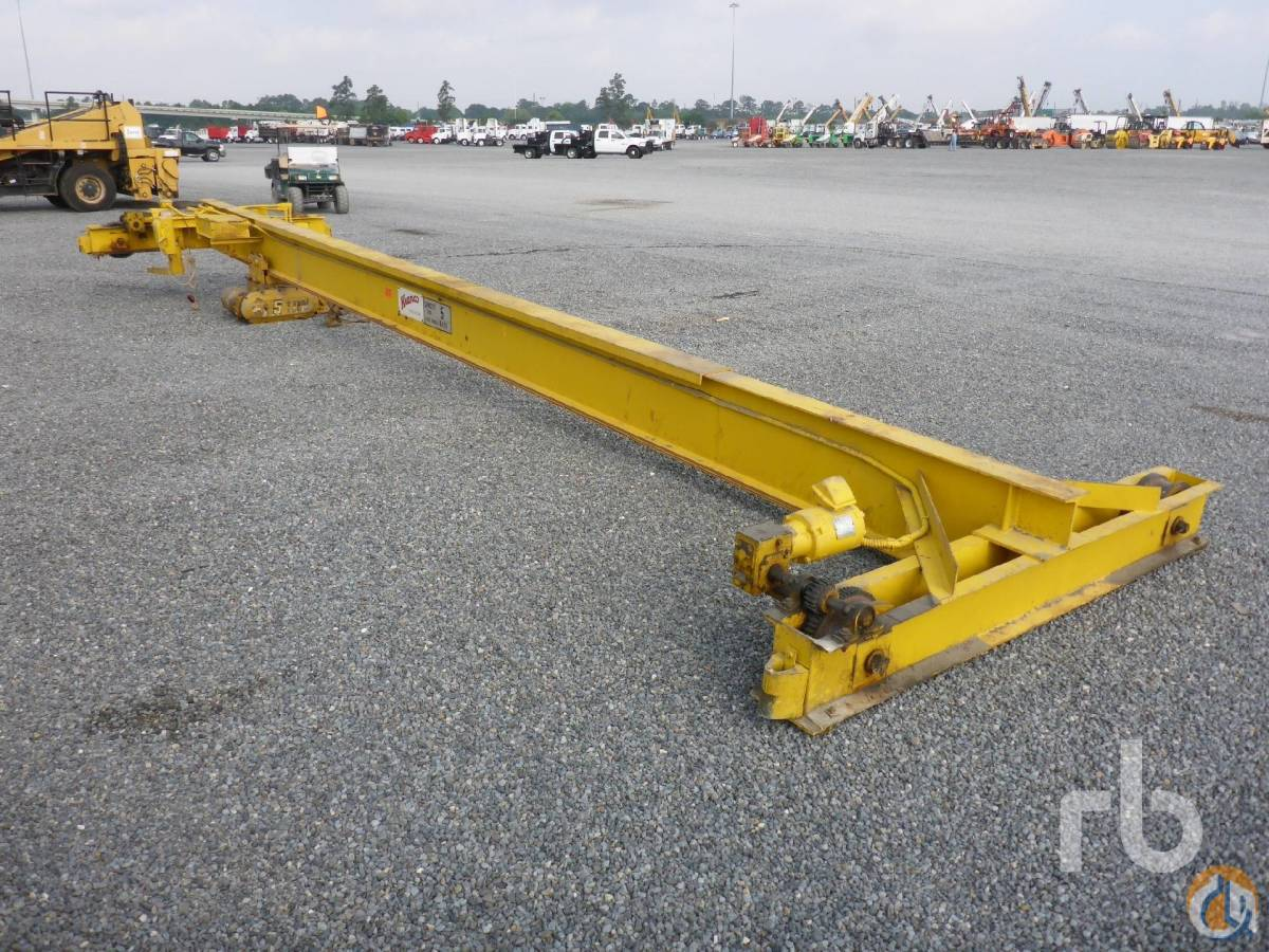Sold KRANCO 5 Ton Overhead Crane Crane for  in Houston Texas on CraneNetworkcom