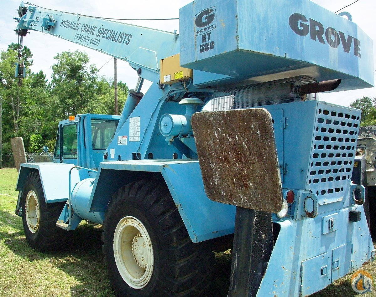 Grove RT58C Crane for Sale or Rent in Saraland Alabama on CraneNetwork.com