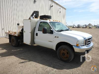 Sold 2004 FORD F550 XLT 4x4 wHiab 060-3 6600 Lb Boom Truck Crane for  in Saskatoon Saskatchewan on CraneNetworkcom