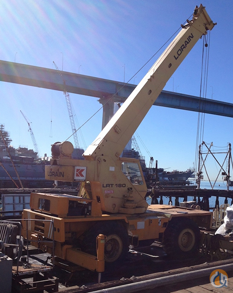 1978 Lorain LRT180 Rough Terrain Crane for Sale on CraneNetwork.com