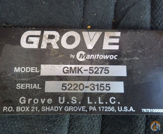 Sold 2012 GROVE GMK5275 Crane for  in San Antonio Texas on CraneNetwork.com