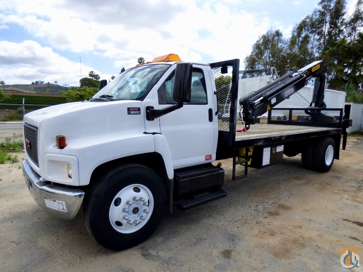Used Palfinger PK 11502 B knuckle boom mounted to 2004 GMC C6500 Crane for Sale in San Marcos California on CraneNetworkcom