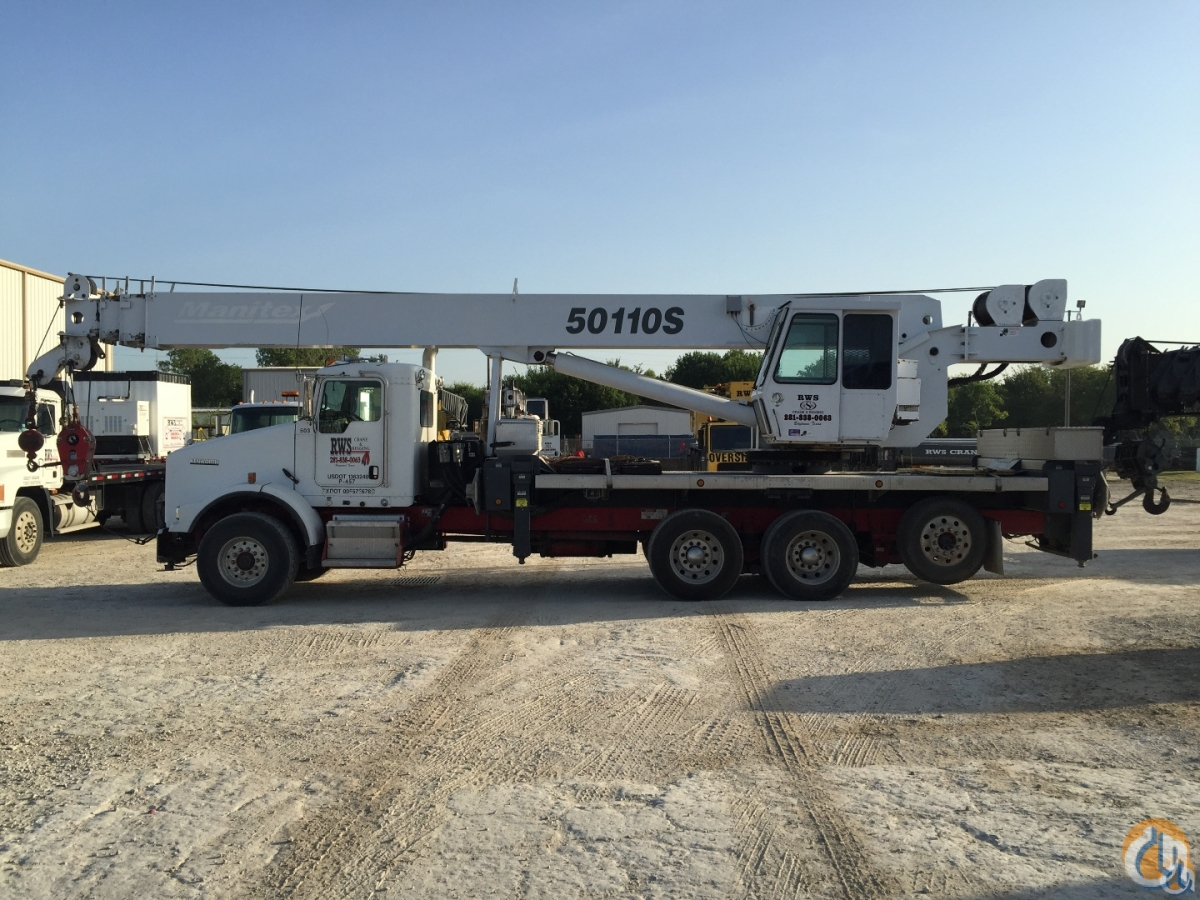 2008 Manitex 50110S Crane for Sale in Baytown Texas on CraneNetworkcom