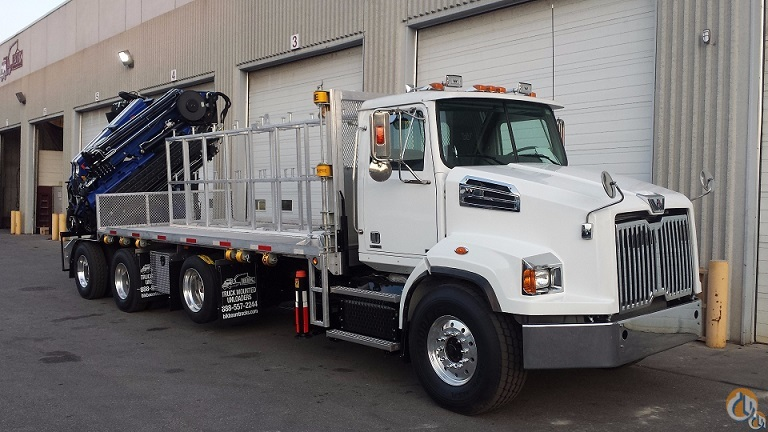 NEW PM 65026   J1316 KNUCKLE BOOM  92 SIDE REACH on 2017 WESTERN STAR 4700 TRI-AXLE  21 ALUMINIUM DECK  470 HP  AUTO 18 SPD Crane for Sale in Toronto Ontario on CraneNetwork.com