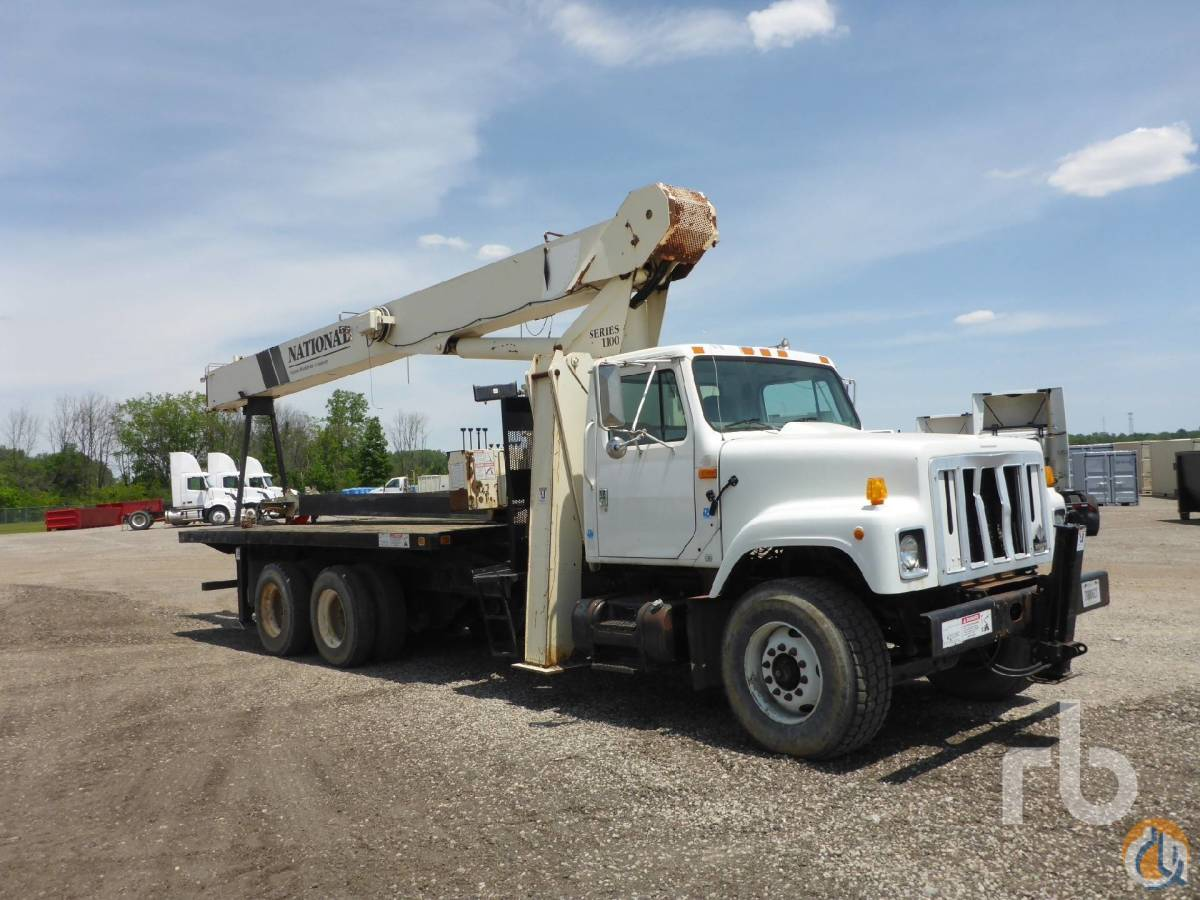 Sold 2001 INTERNATIONAL 2554 wNational 1100 53900 Lb Boom Truck Crane for  in Columbus Ohio on CraneNetwork.com