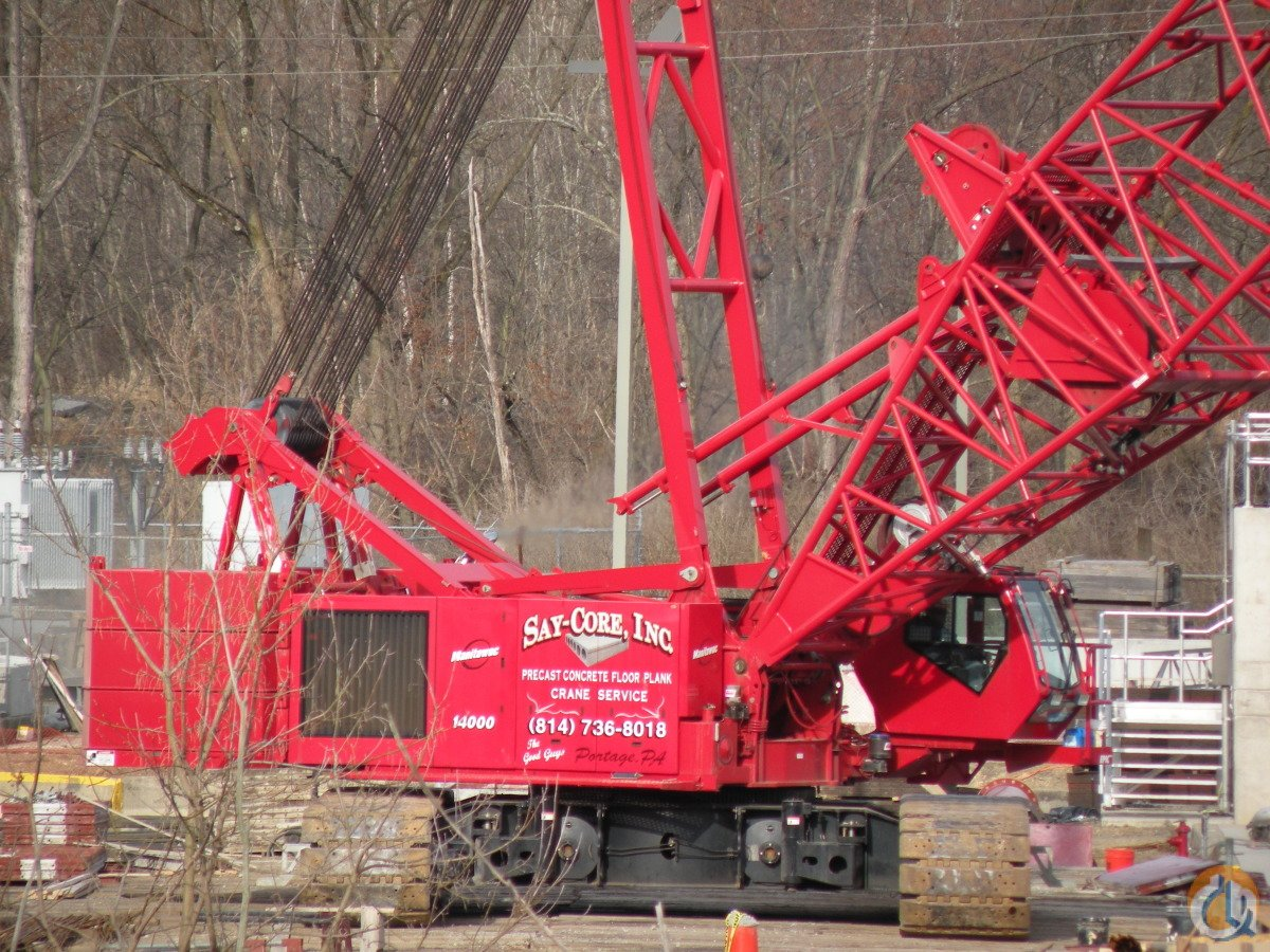 2008 MANITOWOC 14000 CRAWLER CRANE Crane for Sale or Rent in Portage Pennsylvania on CraneNetworkcom