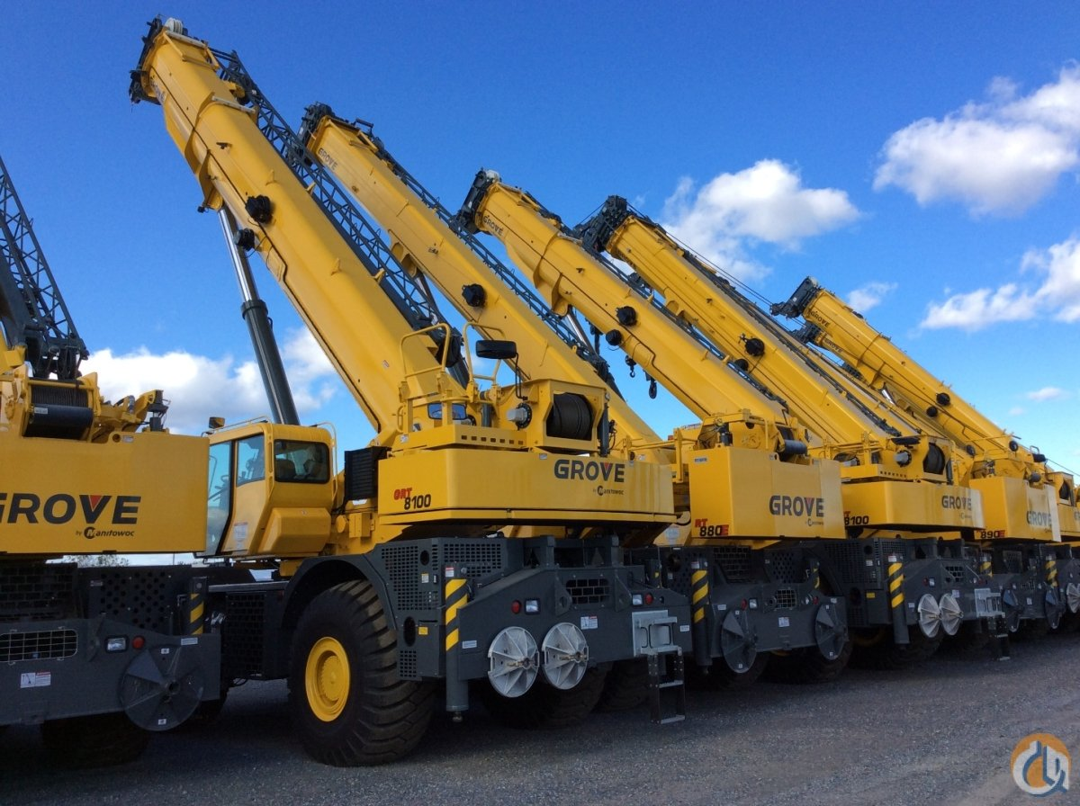 New 2017 Grove GRT 8100 100 Ton Crane for Sale in Shady Grove Pennsylvania on CraneNetworkcom