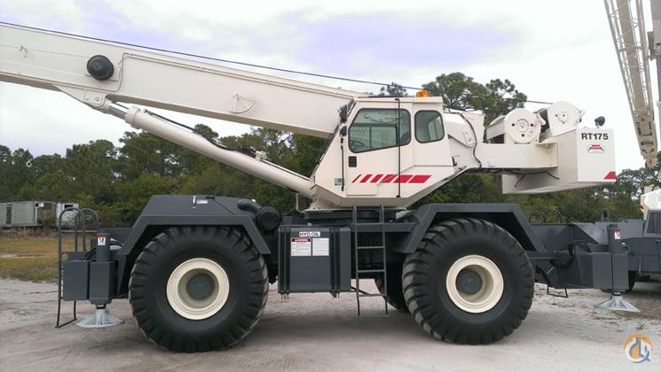 sold 2001 terex rt175 75 ton low hr excellent cond crane for on rh cranenetwork com Terex RT Crane Terex Crane RT 555 Specs
