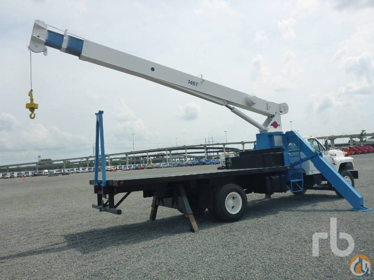 Sold 1991 FORD F800 wManitex 15 Ton Boom Truck Crane for  in Houston Texas on CraneNetworkcom
