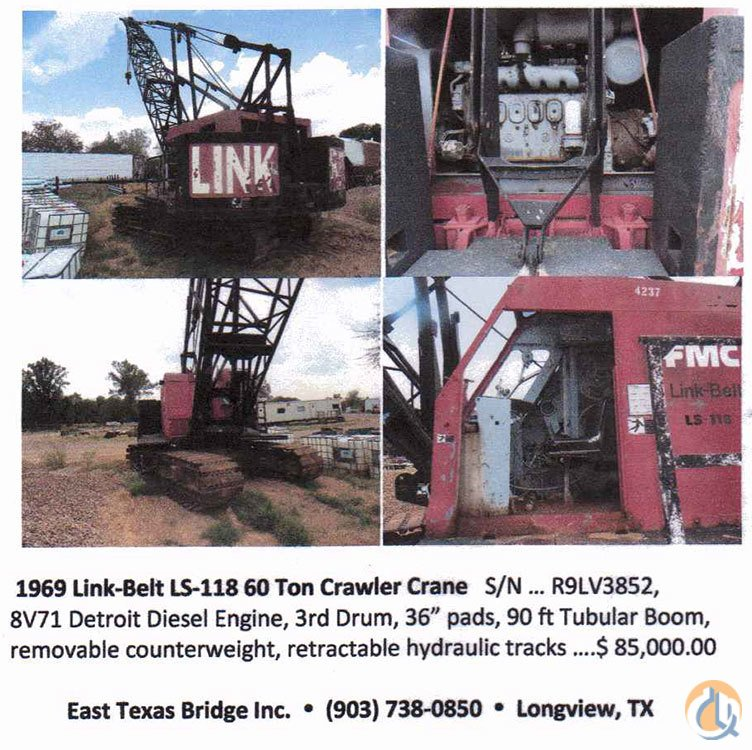 LINK BELT LS-118 FOR SALE Crane for Sale on CraneNetwork.com