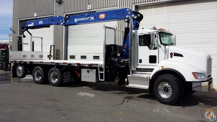NEW POWERLIFT 74 WALLBOARD BOOM  74 VERTICAL REACH on NEW 2016 KENWORTH T440 TRI-AXLE  24 4 ALUMINUM DECK  390 HP  AUTO 10 SPD Crane for Sale in Toronto Ontario on CraneNetwork.com