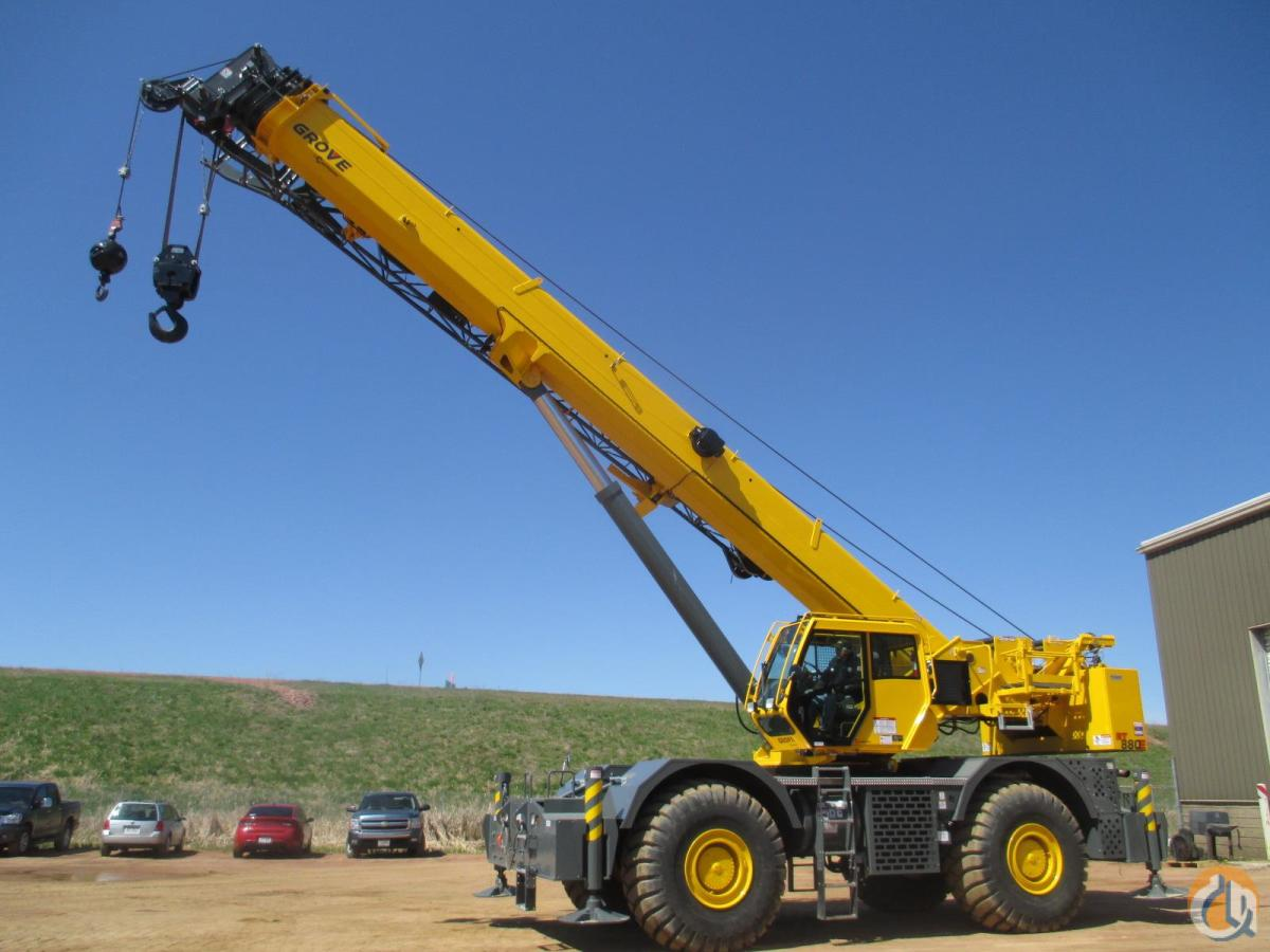 2014 GROVE RT880E Crane for Sale in Wausau Wisconsin on CraneNetworkcom
