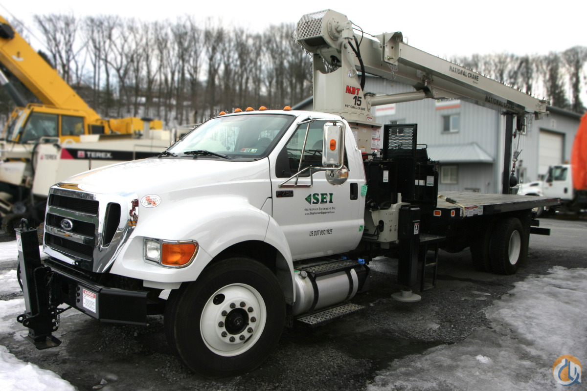 SEI 6517 LKE National Crane NBT1560 Boom Truck on 2012 Ford F750 Crane for Sale or Rent in Harrisburg Pennsylvania on CraneNetworkcom