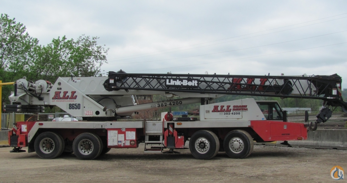 Link Belt HTC-8650 II For Sale Crane for Sale in Pittsburgh Pennsylvania on CraneNetwork.com