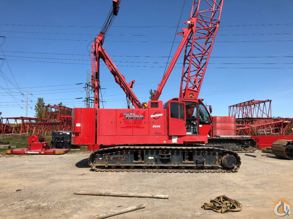 2004 Manitowoc 8000 Crane for Sale or Rent in Cleveland Ohio on CraneNetwork.com