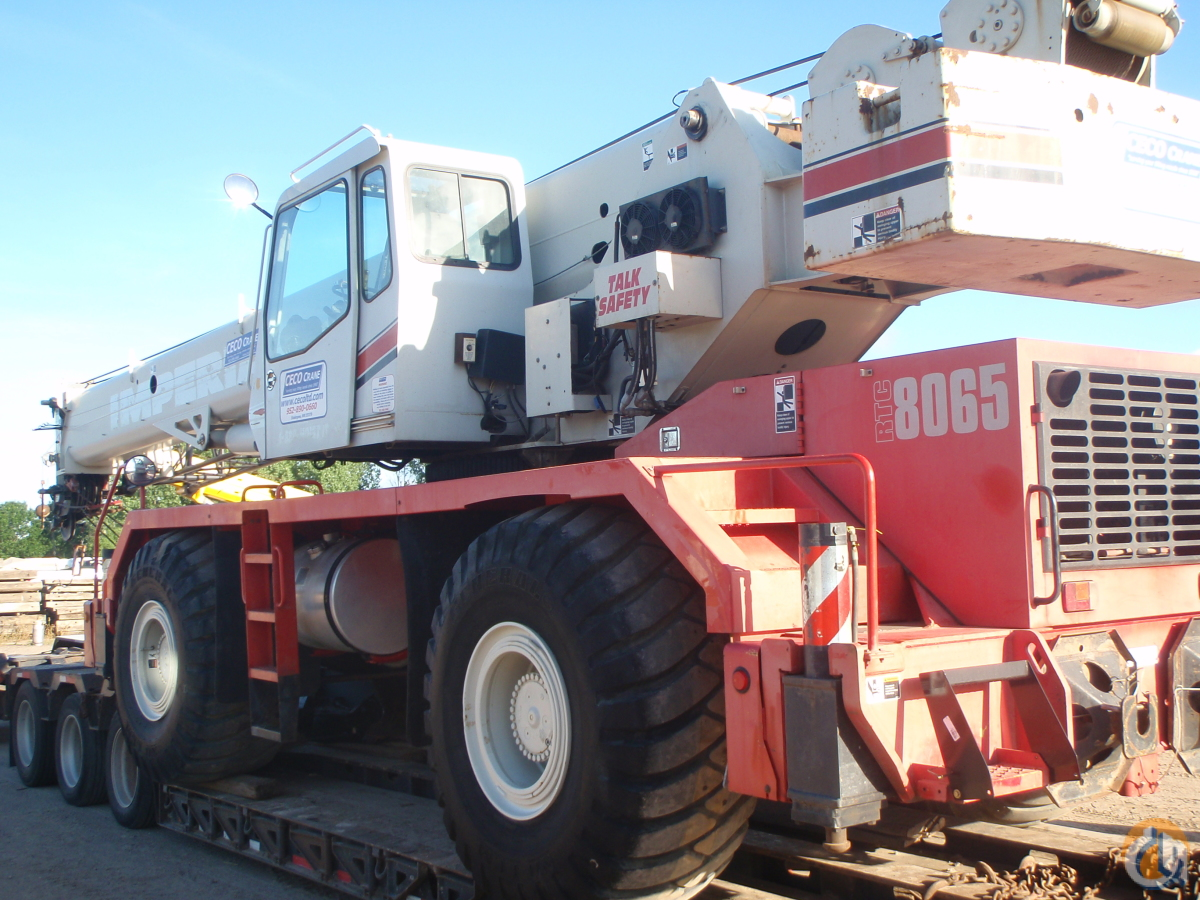 2008 Link-Belt RTC-8065 SII Crane for Sale in Eden Prairie Minnesota on CraneNetwork.com